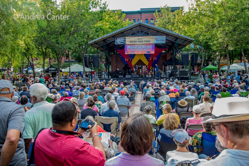 AARP Main Stage at Mears Park, © Andrea Canter
