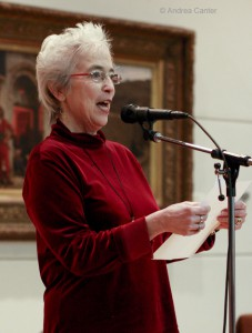 Jan Bucher reads a poem  during a Soul Cafe performance © Andrea Canter