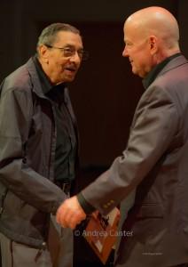 Jimmy Hamilton and Gordy Johnson, Minnesota Jazz Legends concert © Andrea Canter