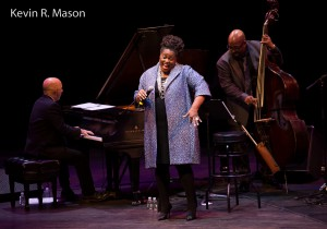 Peter Martin, Dianne Reeves and Christian McBride © Kevin R. Mason